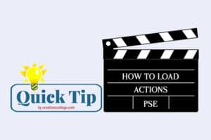 how to load actions in pse